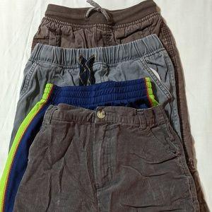 Bundle 4 pack Boys Pants Athletic Size 6